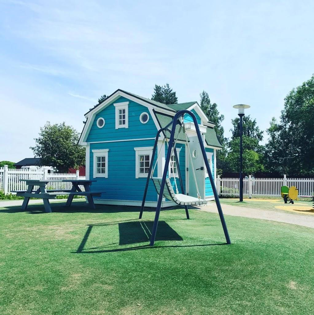 Onnelin ja Annelin talon pienoismalli löytyy Laivasillan leikkipuistosta.