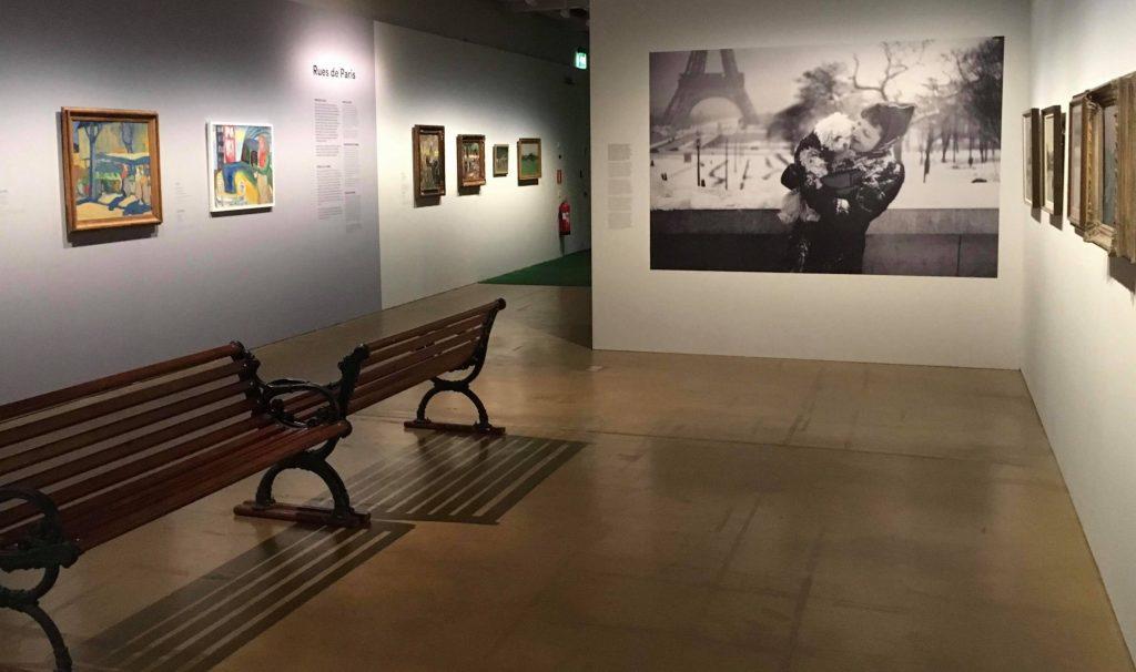 Leonard Bäcksbackan (1892-1963)Air de Paris -näyttely HAM Helsingissä.